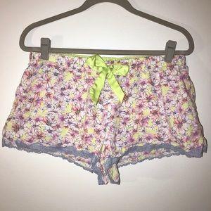 Victoria's Secret floral print sleep shorts